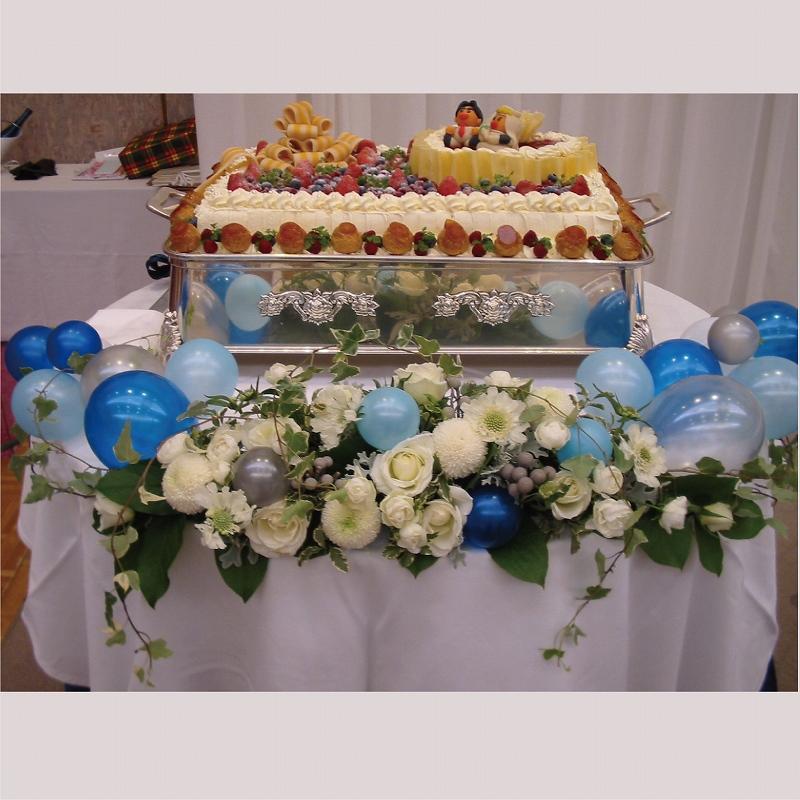 ケーキ台 ブルー